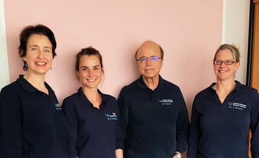 Dr. Karin Brakensiek, Dr. Birte Zimmermann, Dr. Friedhelm Fester und Dr. Vera Becker